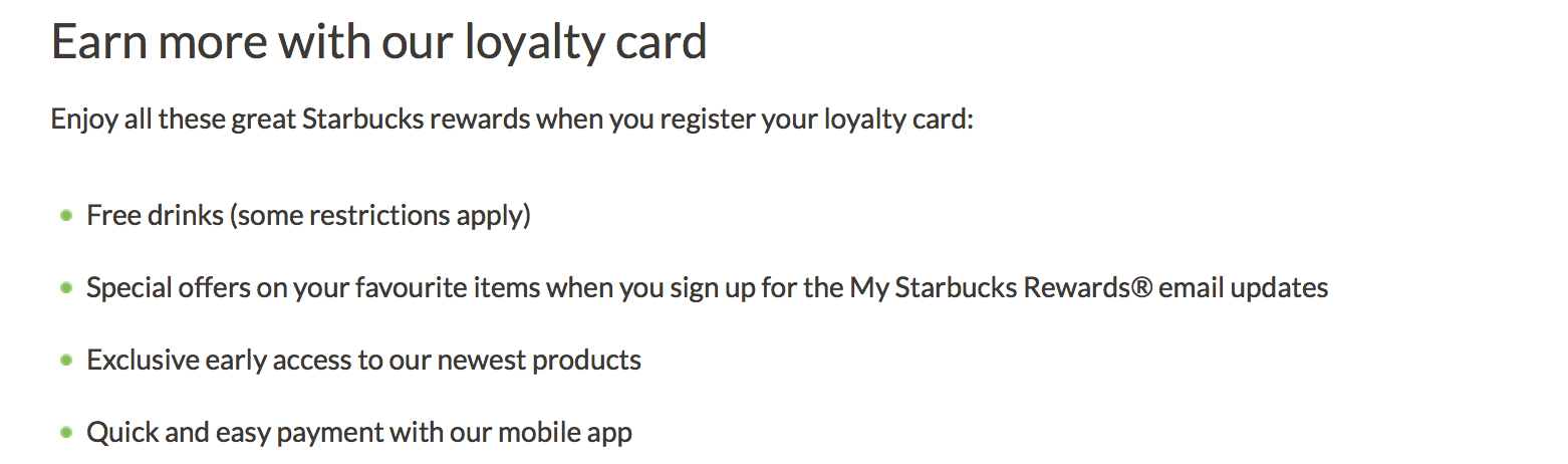 food industry loyalty program
