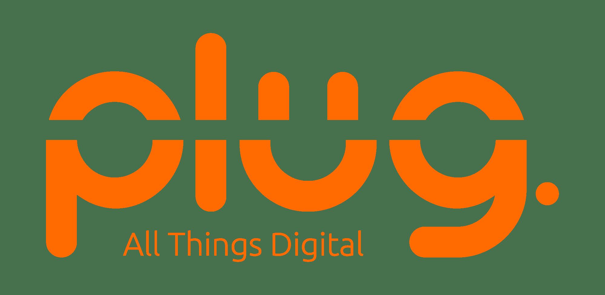 Plug Logo With Tagline Transparent Rgb