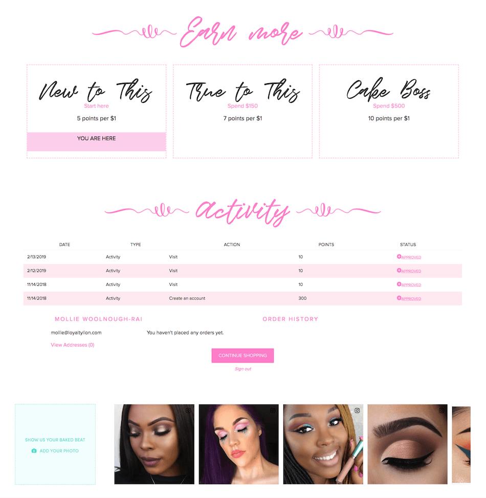 Beauty Bakerie loyalty program