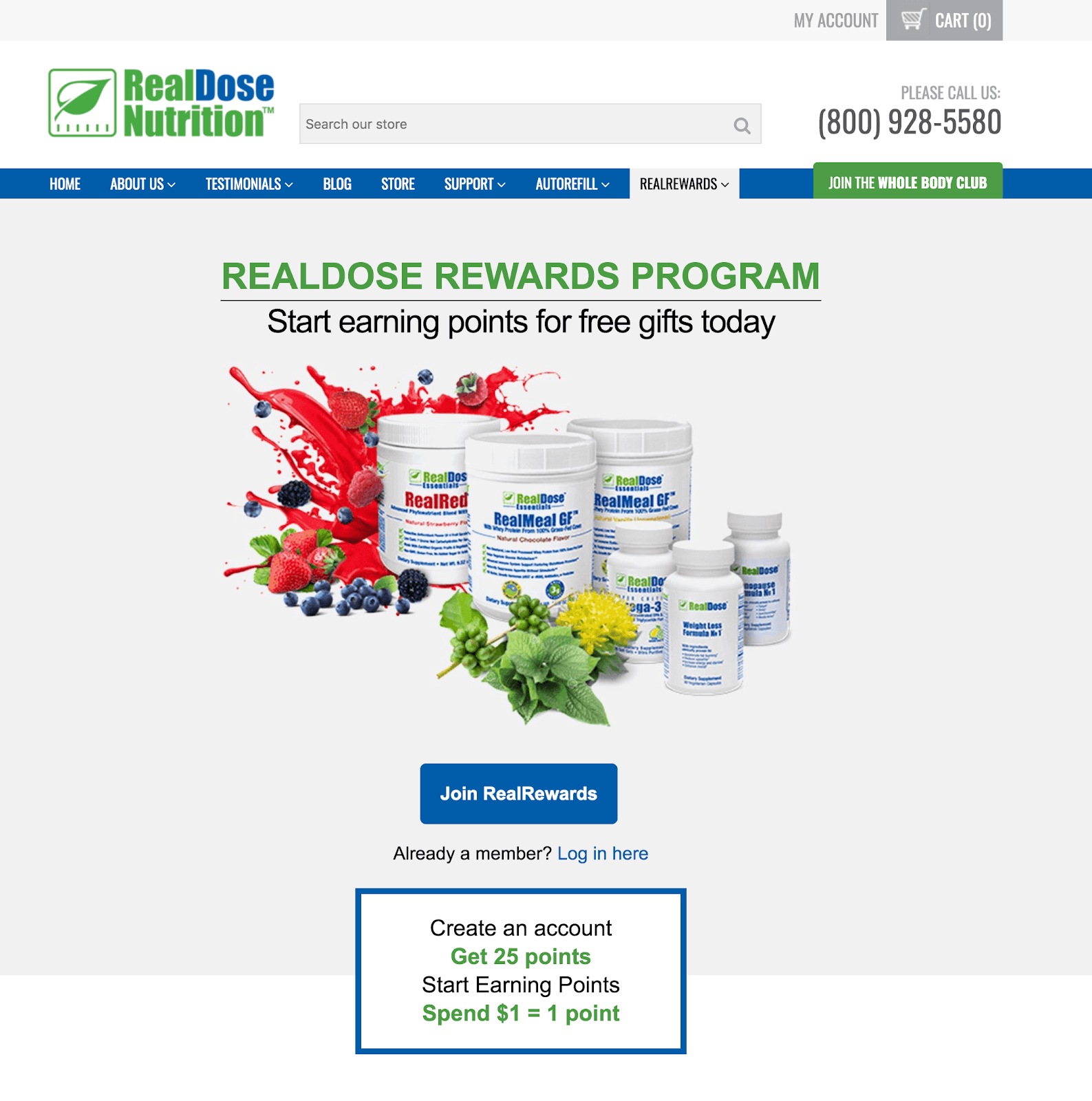Real Dose Nutrition Rewards