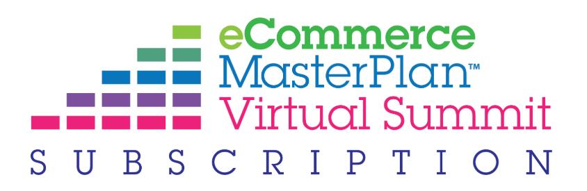 Ecommerce Master Plan Virtual Summit