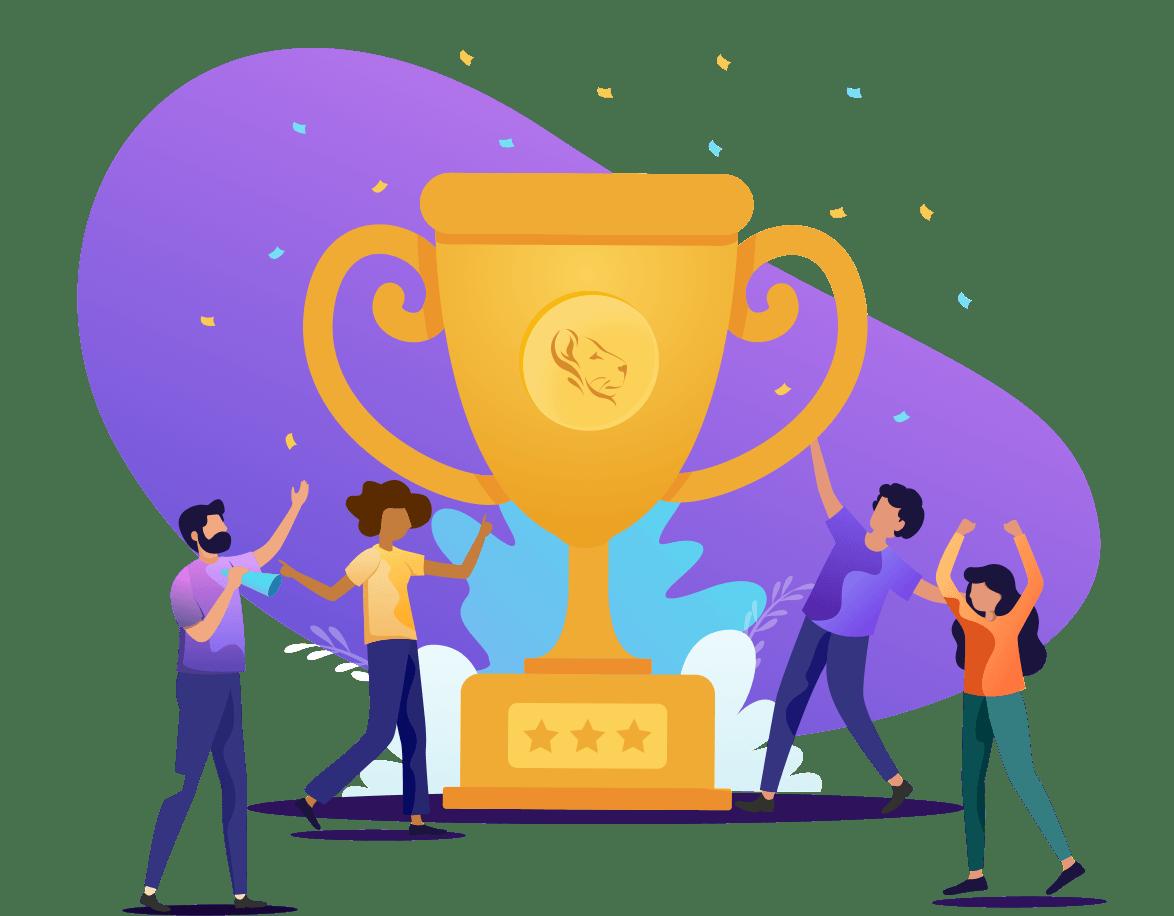 Trophy Celebration Isolated
