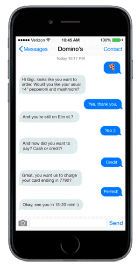 07 Dominoes Chat Bot Example Phone
