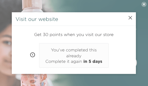 Waterdrop Loyalty Points Popup