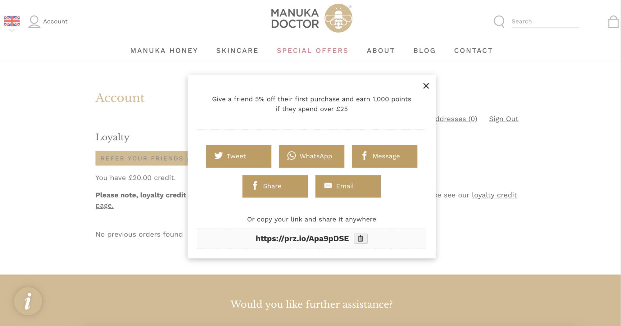 Manuka Honey Referrals