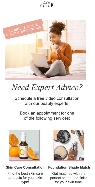 100 Pure Skincare Consultation