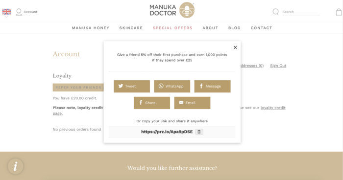 Manuka Honey Referrals