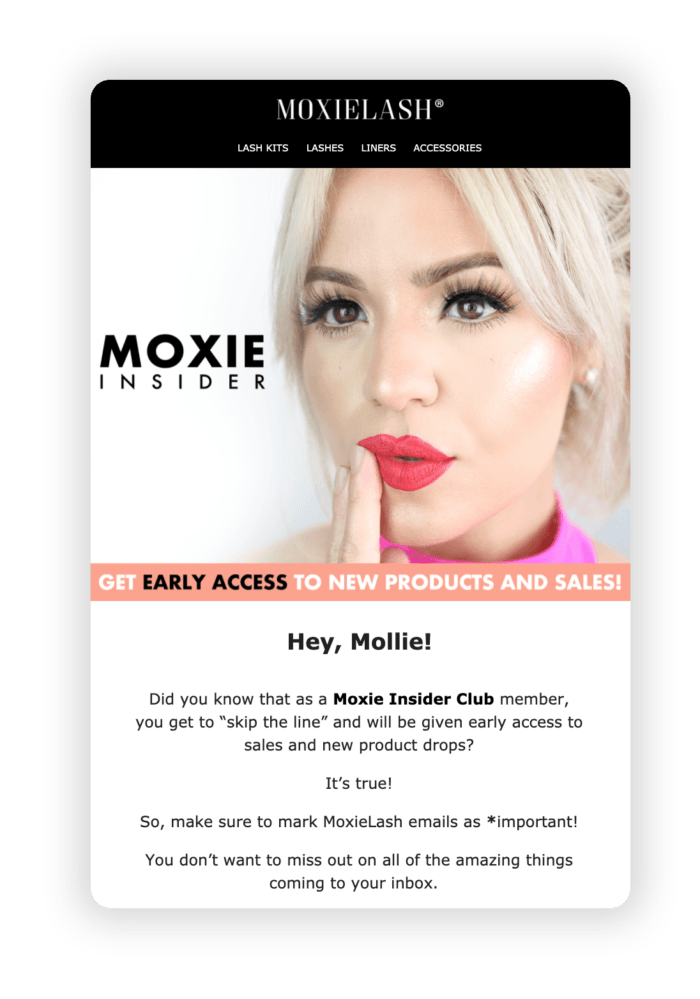 Moxielash Early Access Email 1