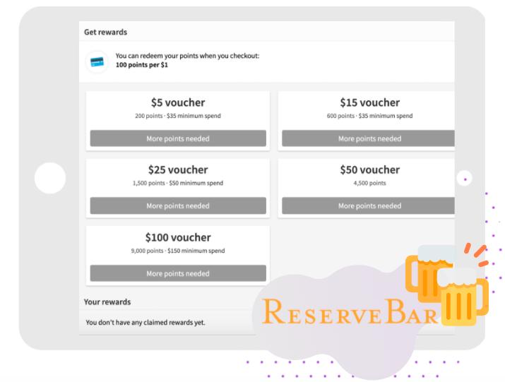 Reserve Bar Loyalty Program Example