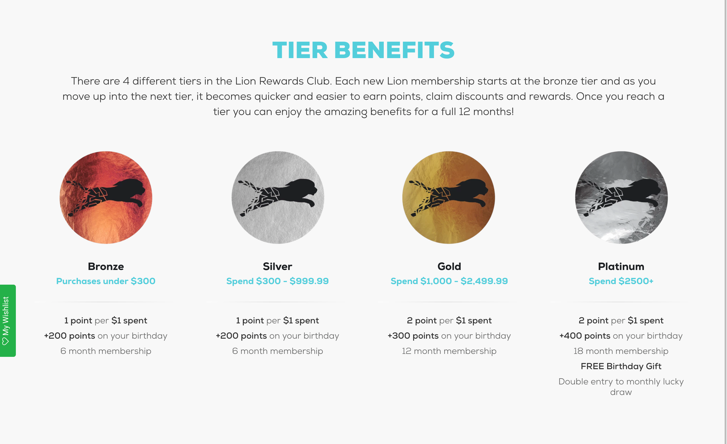 Gym Direct Tiers